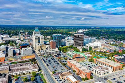 skyline-on-a-cloudy-summer-day-in-greensboro-north-carolina-176242423